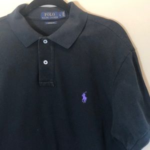 Polo by Ralph Lauren Black Shirt with Purple Pony